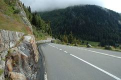 Mountain road in Alps in Switzerland Royalty Free Stock Photo