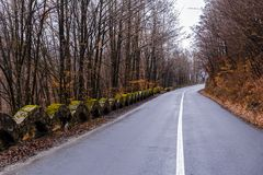 A mountain road through the Apuseni Mountains. In Romania Royalty Free Stock Image