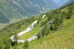Mountain road in Austria Royalty Free Stock Images