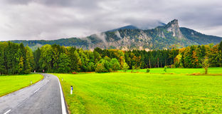 Mountain road in Austrian Alps Stock Photo