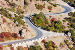 Mountain road in autumn Stock Photography