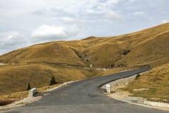 Mountain road during autumn Royalty Free Stock Image
