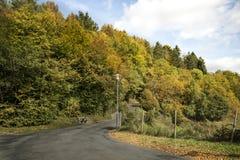 Mountain road in autumn. In European Stock Photography