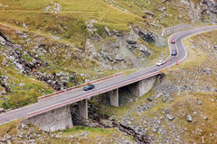 Mountain road. Autumn landscape on mountain road, Transfagarasa, Romania Stock Photography