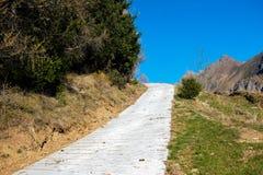 Mountain road in autumn Stock Photos