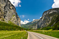 Mountain Road and Beautiful Landscape Royalty Free Stock Image