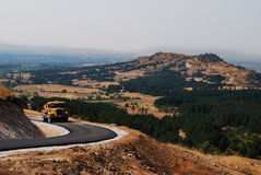 Mountain road with beautiful view Royalty Free Stock Photography