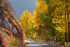 Mountain road. In Beijing suburbs Royalty Free Stock Photo
