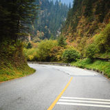 Mountain road bends Royalty Free Stock Images