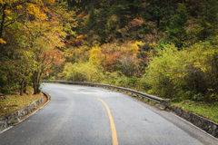 Mountain road bends Royalty Free Stock Photos
