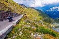 Mountain Road Biking Royalty Free Stock Photo