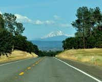 Mountain Road in California On A Spring Day Stock Photography