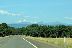 Mountain Road in California On A Spring Day Royalty Free Stock Photography