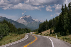 Mountain road in Canada stock image