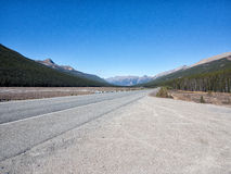 Mountain road in Canada Royalty Free Stock Image