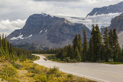 Mountain road in Canadian Rockies Royalty Free Stock Images