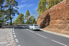 Mountain road. Canary Islands. Spain. Stock Photo