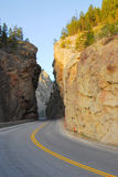 Mountain road through canyon royalty free stock photo