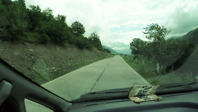 Mountain road from car stock video footage