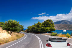 Mountain road  car Royalty Free Stock Image