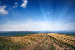Mountain road. Carpatian mountains Ukraine RYNA hills Stock Photo