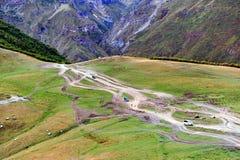 Mountain road in Caucasus Stock Image