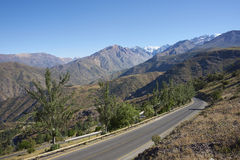 Mountain Road - Chile Stock Photo
