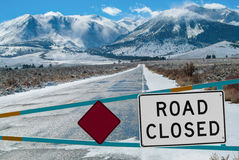 Mountain Road Closed Royalty Free Stock Photos
