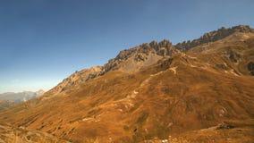 Mountain road, Col du Galibier, France Stock Photos