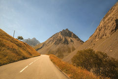 Mountain road, Col du Galibier, France Stock Photography