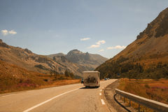 Mountain road, Col du Galibier, France Stock Photo