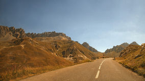 Mountain road, Col du Galibier, France Royalty Free Stock Photo