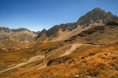 Mountain road, Col du Galibier, France Stock Images