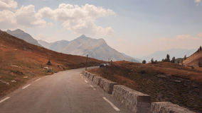 Mountain road, Col du Galibier, France Royalty Free Stock Photography