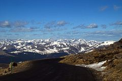 Mountain Road in Colorado. Mountain Road along Apline Tundra in Colorado Stock Photography