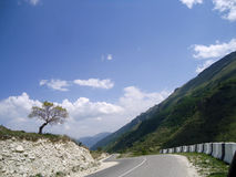 Mountain road, Dagestan, Makhachkala. Mountain road in the Republic of Dagestan Royalty Free Stock Images