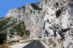 Mountain road  in Croatia Stock Photo