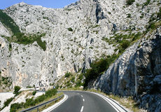 Mountain road in Croatia Stock Images