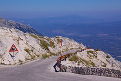 Mountain road in Croatia Royalty Free Stock Image