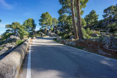 Mountain road with curves Royalty Free Stock Photos