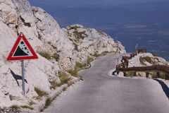 Mountain road in Dalmatia Stock Images