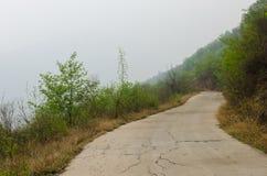 Mountain road detour Royalty Free Stock Photo