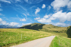 Mountain road in Dolomites, Trentino, Italy Royalty Free Stock Images