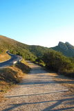 Mountain Road on Elba Island Royalty Free Stock Photos