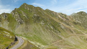 Mountain road in Fagaras Mountains, timelapse stock video