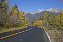 Mountain Road in Fall Royalty Free Stock Photography