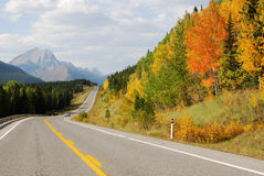 Mountain road in fall Royalty Free Stock Image