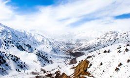 Mountain road. This is the road through Fergana Range, Uzbekistan royalty free stock photography