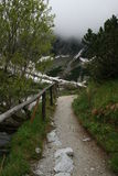 Mountain road. Footpath in the High Tatras , Slovakia , Europe Stock Photo