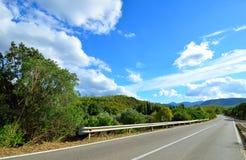 Mountain road. Fragment of the mountain road. Sardinia. Italy Stock Photography